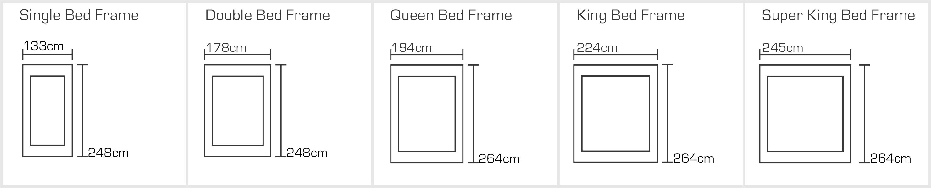 Barcelona Bed Sizes
