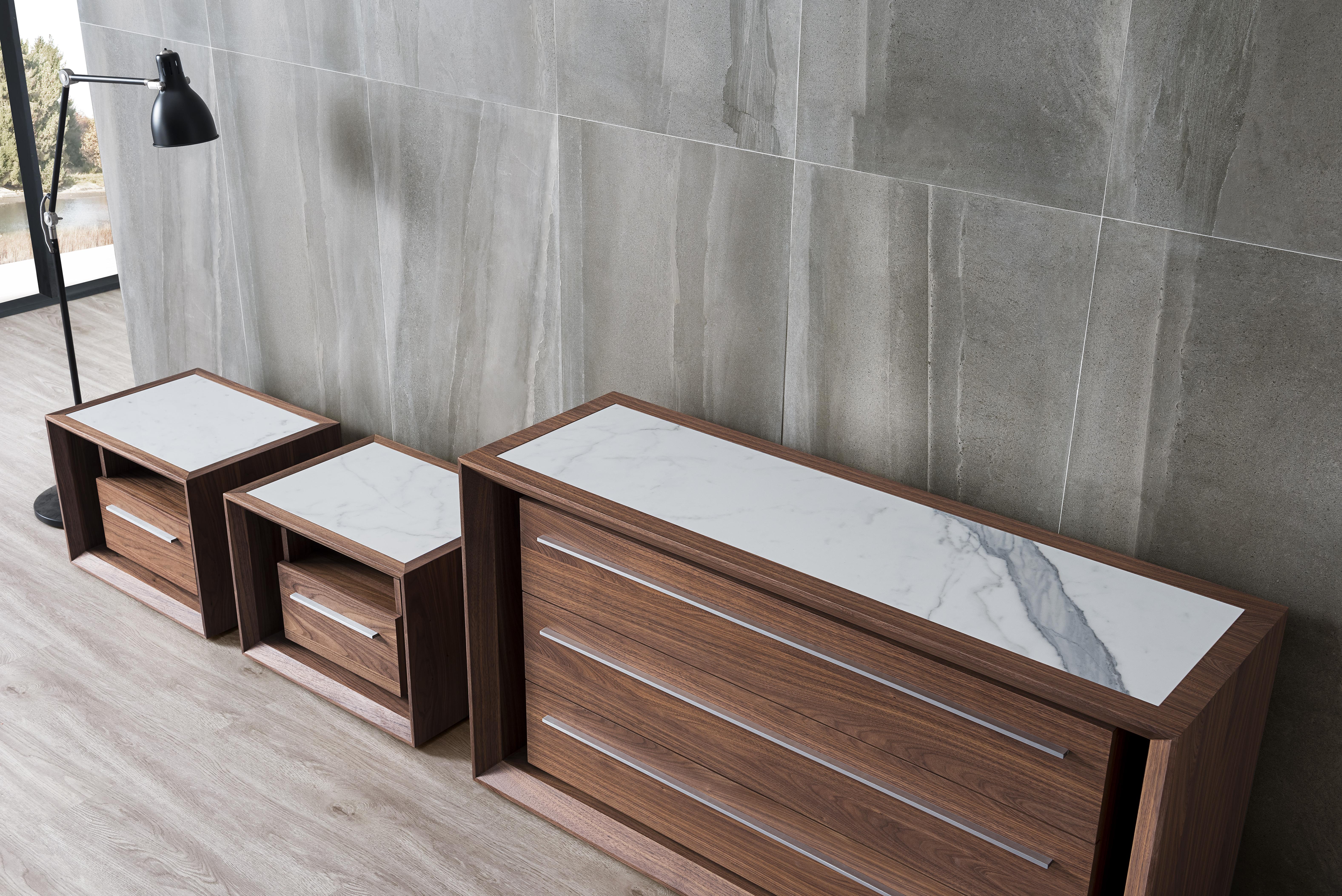 Malibu Timber Dresser with Venato Stone Insert