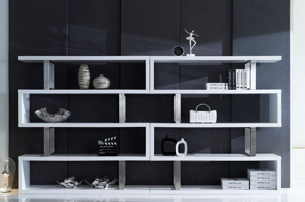 London Bookcase in High Gloss White 980px x 650px (1)