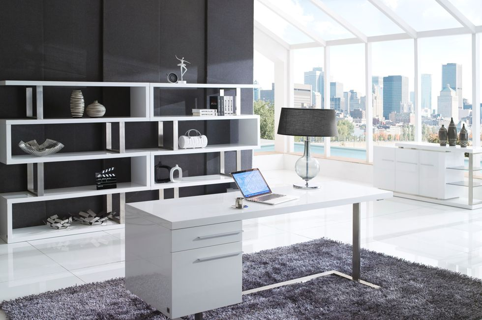 London Bookcase in High Gloss White 980px x 650px (2)