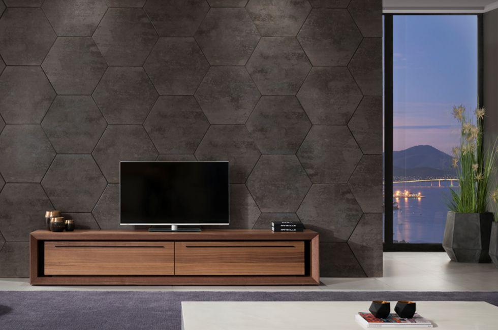 Malibu Tv Unit Version C Metalwork Black Walnut Timber 980px x 650px (1)