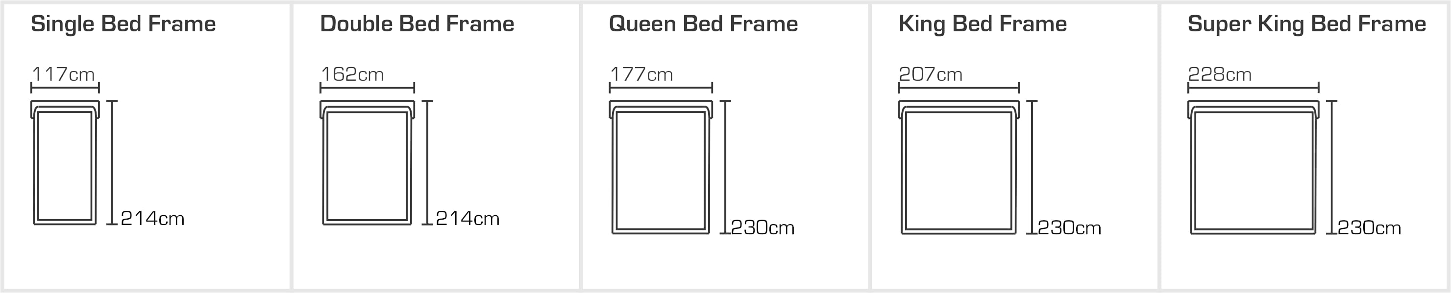 Vancouver Designer Bed Sizes
