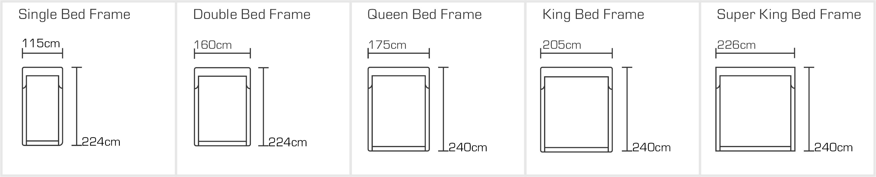 Amelia Bed Sizes