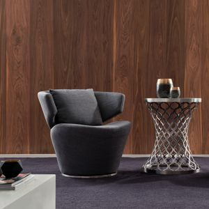 CRS22 Feature Swivel Chair in Grey Fabric