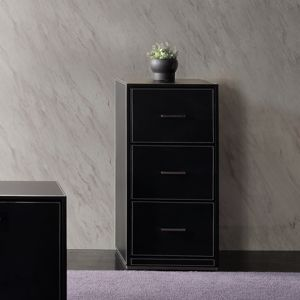 GF-406 Leather File Cabinet