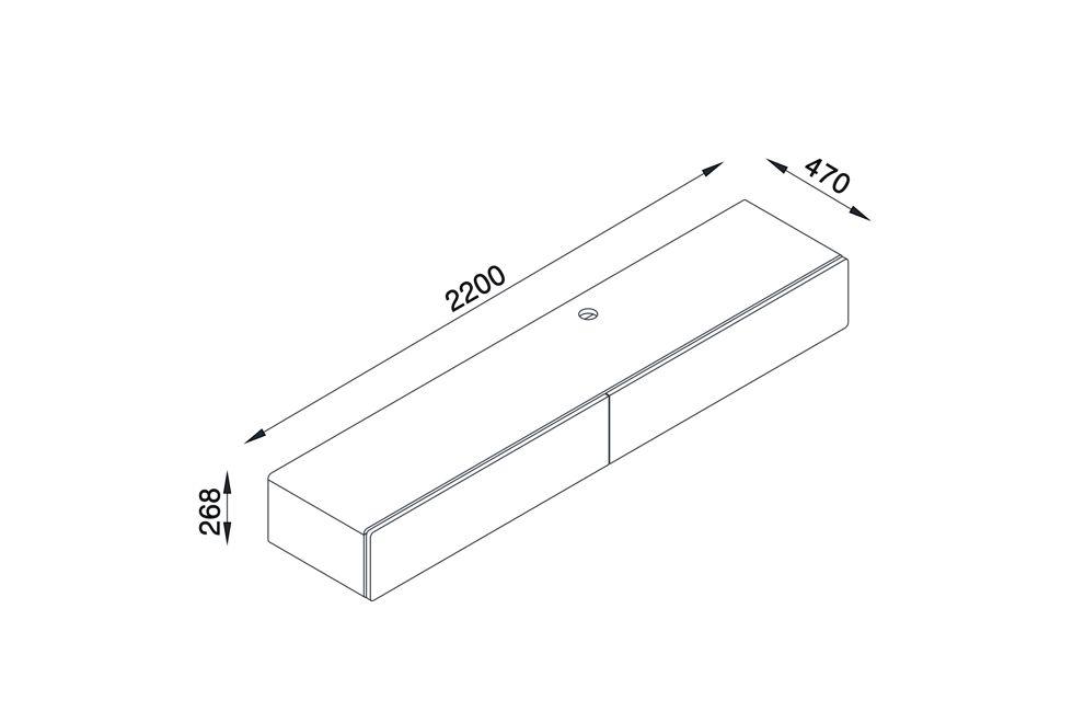 Brando 220cm Floating Tv Unit Dimensions 980px x 650px (1)