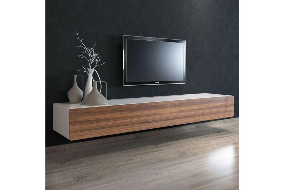 Brando 220cm Floating Tv Unit with American Walnut Doors 980px x 650px (1)