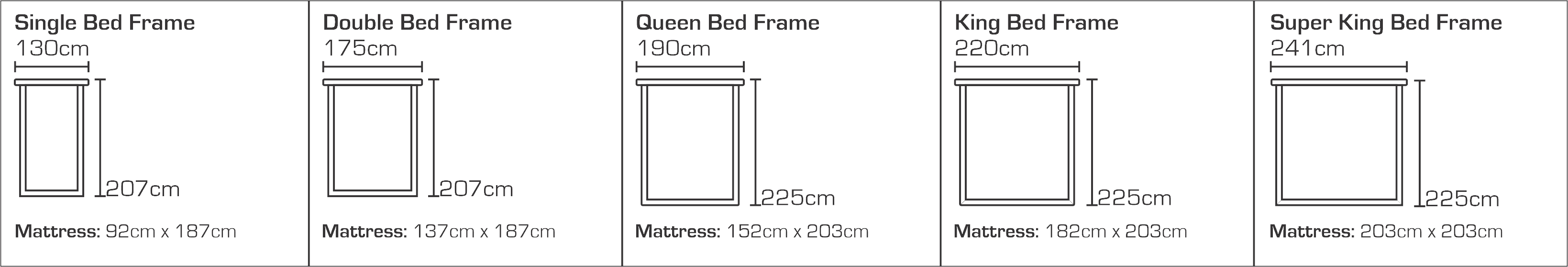 Moab Bed Sizes
