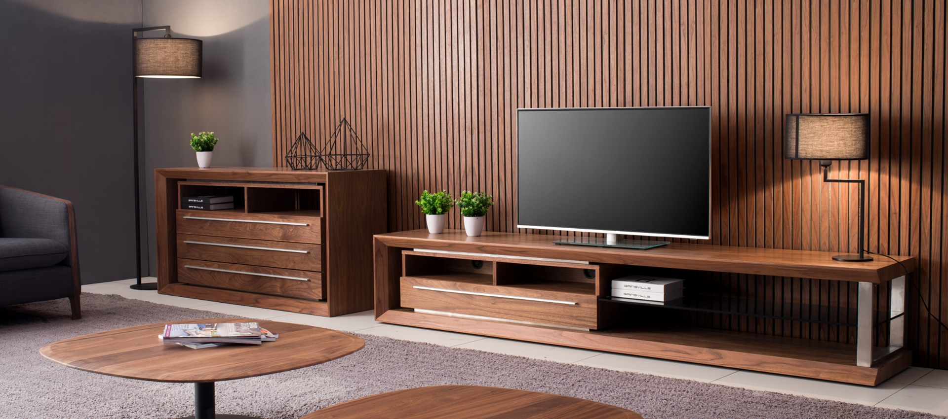 M240A Tv Unit in Walnut Finish