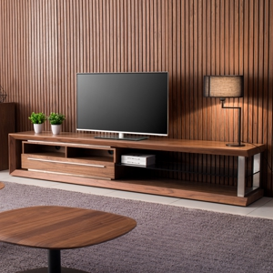 Malibu 240cm Walnut TV Unit Version A