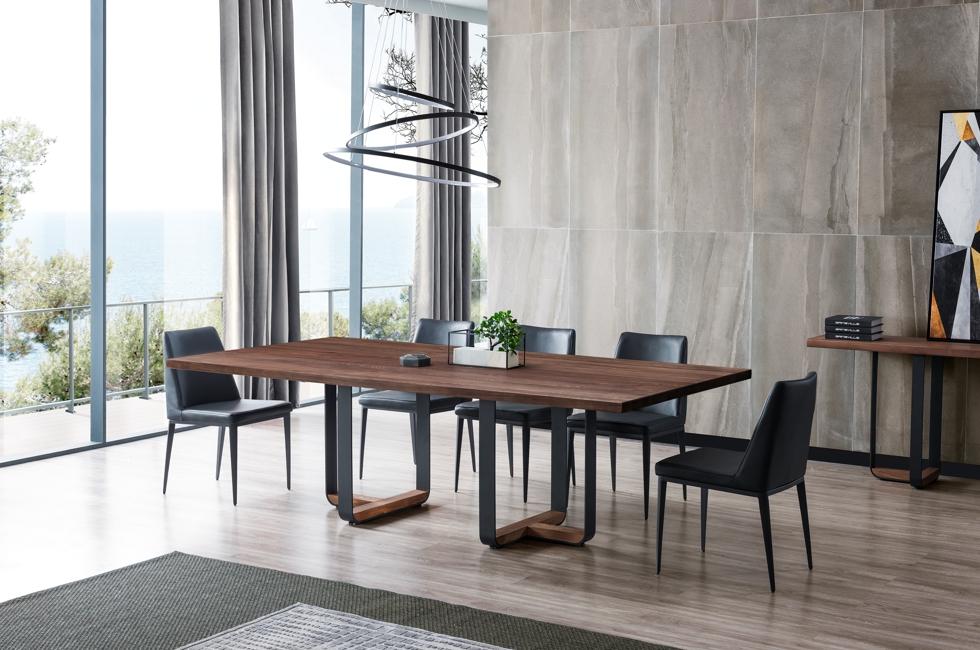 Dakota American Ash Timber Dining Table 980px x 650px (2D)