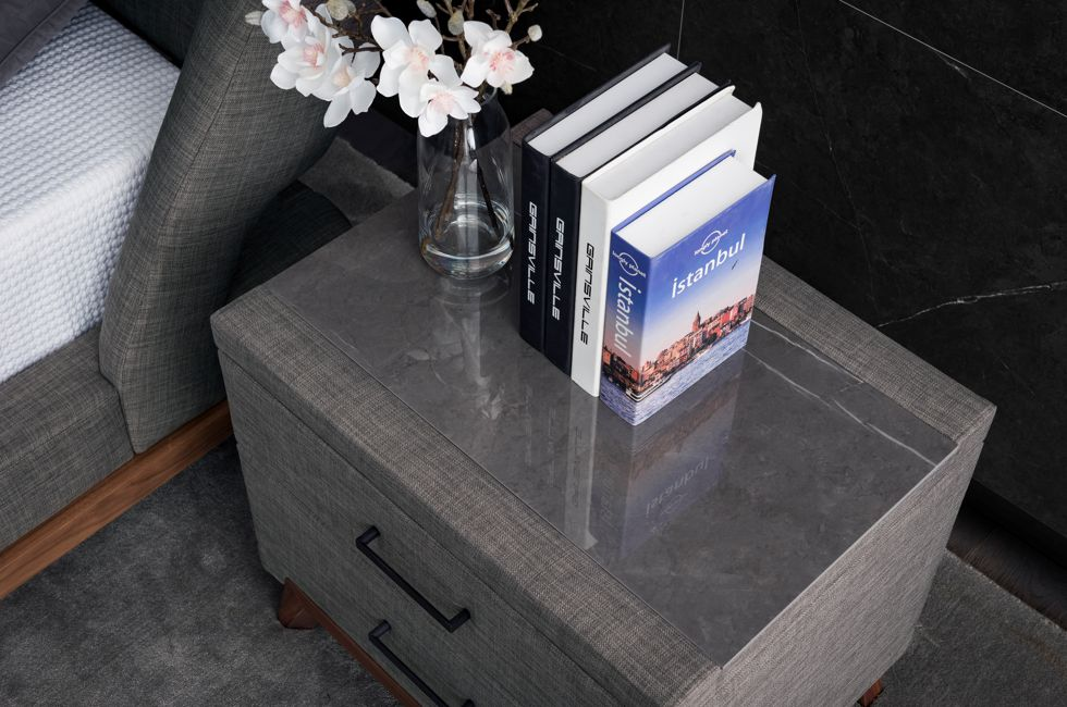 G57 Bedside Table with Concordia Stone Top