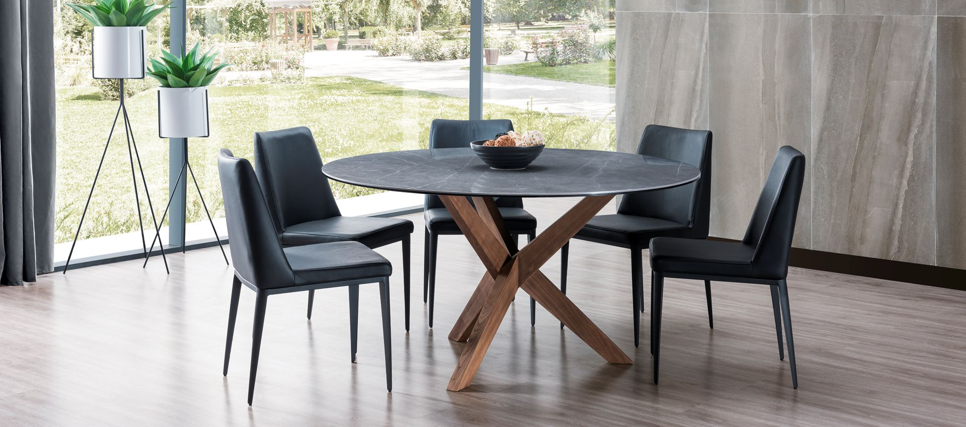 cf8ab886d0 Orion Timber and Stone Round Dining Table | Gainsville Furniture
