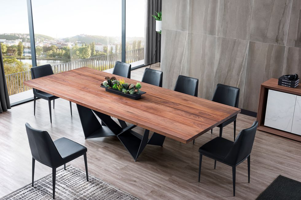 Tuscan Dining Table in Walnut Timber