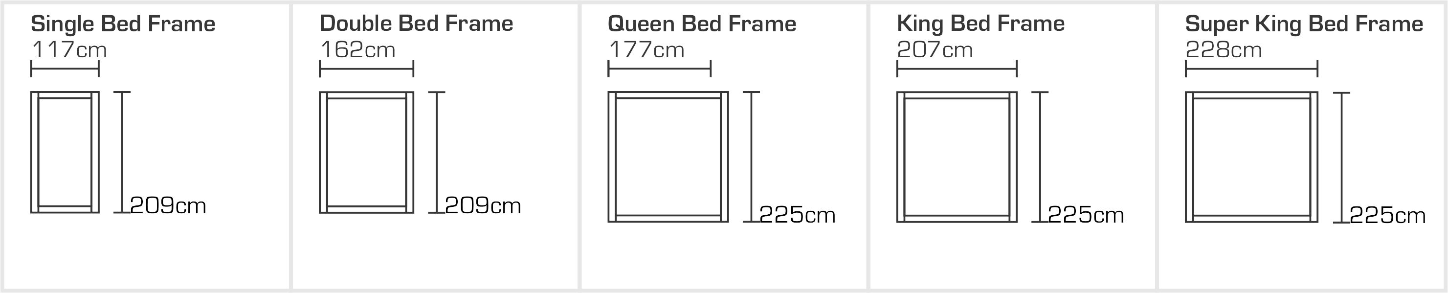 Geneva Bed Frame Sizes (1)