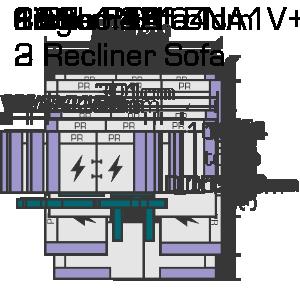 168cm x 104cm 2 Recliner Sofa Website Diagram (1)