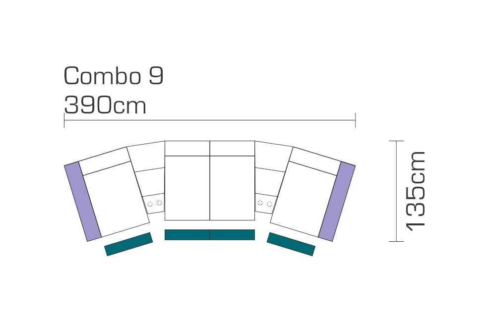 Eden Theater Sofa Combo 9