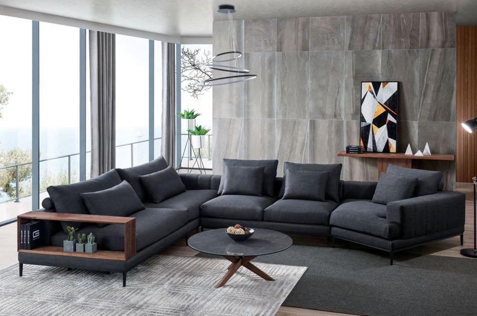 Lounge Suites Melbourne   Leather Modular Sofa   Gainsville