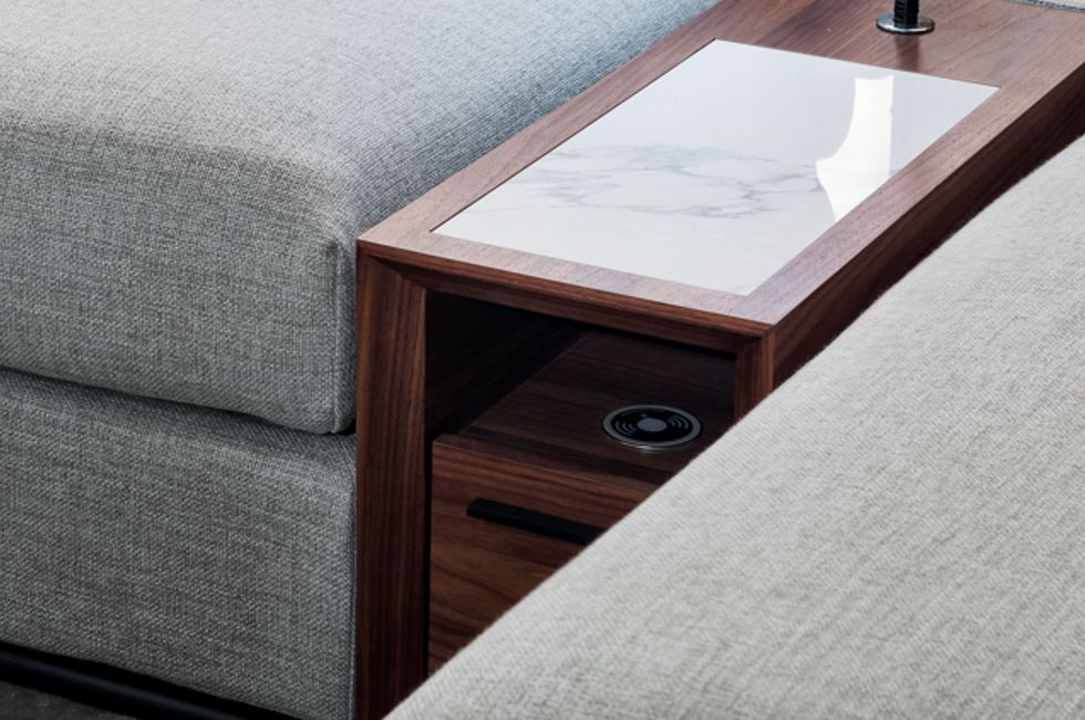 Media Console with Wireless Charging Pad