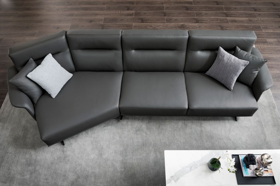The Monica Sofa's 45 degree chaise