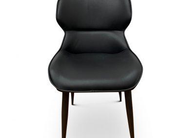 Zanda Dining Chair in Black Leather
