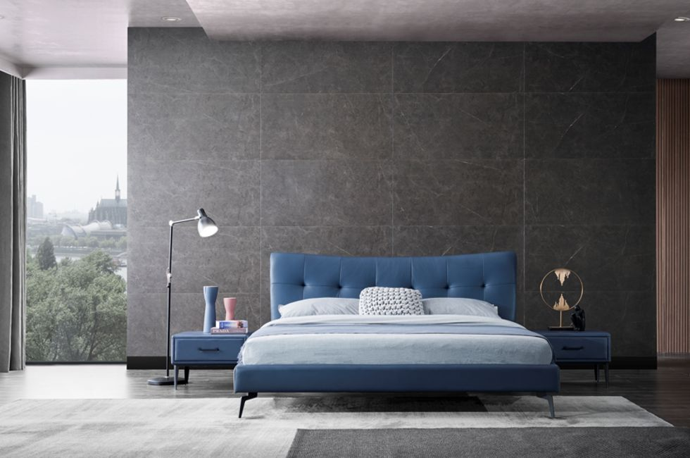 Vira Leather Bed