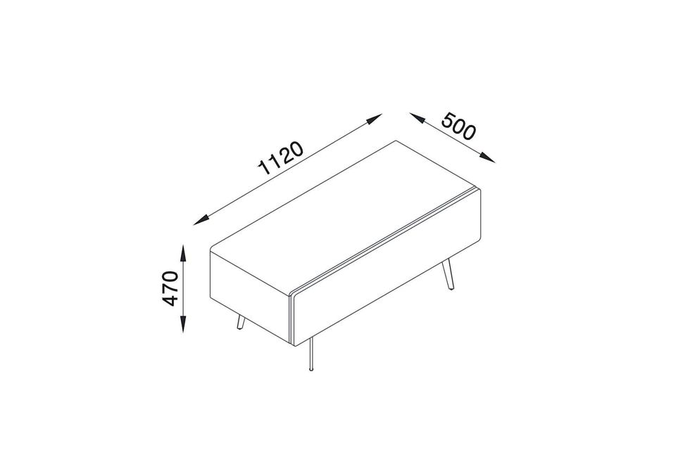 Brando 112cm Free Standing Tv Unit Dimensions 980px x 650px (1)