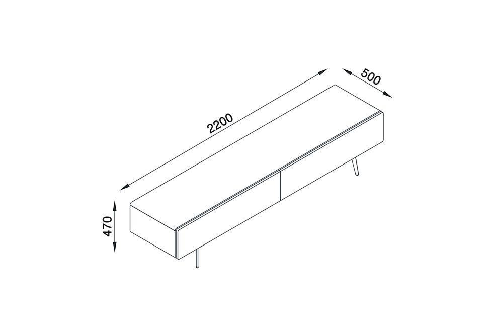 Brando 220cm Free Standing Tv Unit Dimensions 980px x 650px (1)