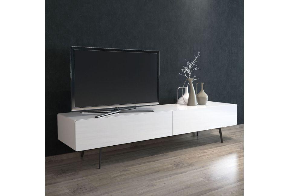 Brando 220cm Free Standing Tv Unit with Gloss White Doors 980px x 650px (1)
